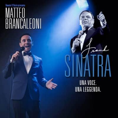 Matteo Brancaleoni nella locandina dell' omaggio a Frank Sinatra