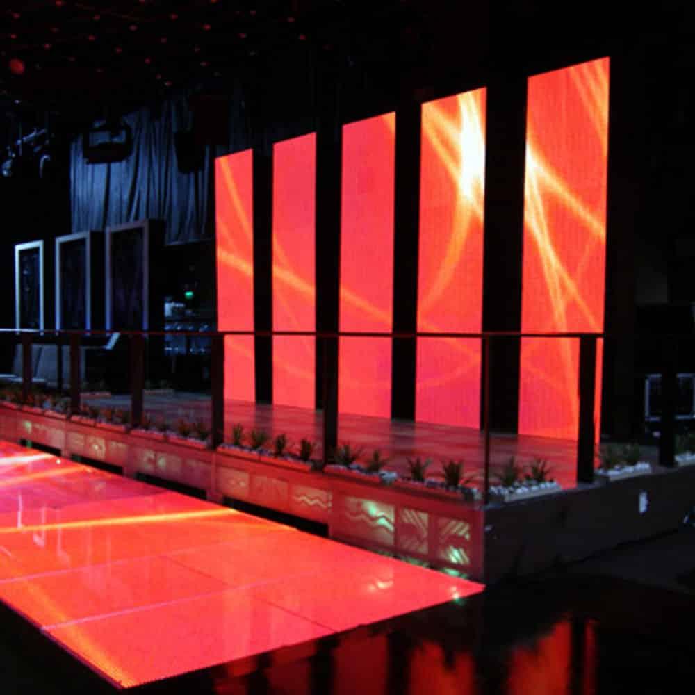 led wall arancioni per eventi